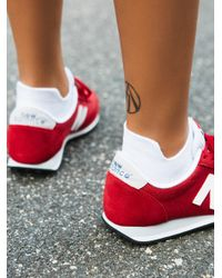 Free People - White Feetures Running Sock - Lyst
