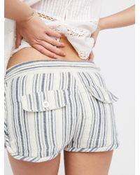 Free People | Multicolor Night Moves Striped Short | Lyst