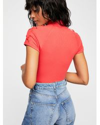 Free People - Red All Tied Up Top - Lyst