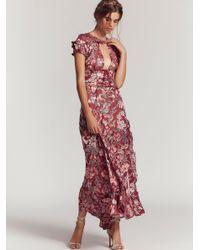 Free People - Red Clothes Dresses Maxi Dresses Flora Maxi Dress - Lyst
