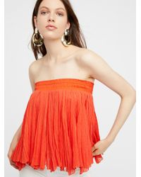 Free People - Red Godet Tube - Lyst