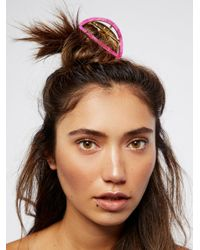 Free People - Multicolor Tort Cutout Claw - Lyst