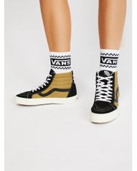 Free People - Black Sk8-hi Reissue Vintage High Top Sneaker - Lyst