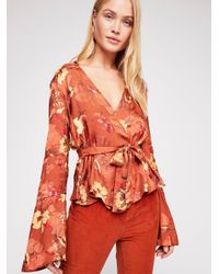 Free People - Multicolor Sabrina Wrap Jacket - Lyst
