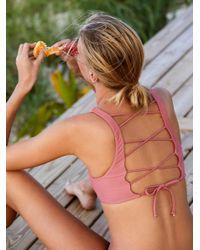 Free People - Multicolor Petty Bralette Bikini Top Joplin Everyday Bikini Bottom - Lyst