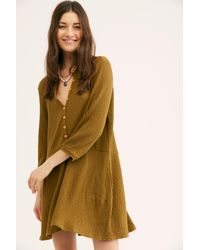 770dafc44dc Free People. Women s Blossom Button-up T-shirt Dress By Fp Beach