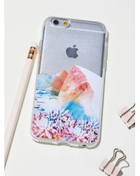 Free People | Blue Technicolor Iphone Case | Lyst