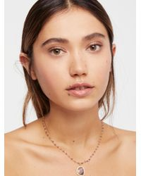 Free People - Brown Annie Semi-precious Stone Choker - Lyst