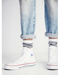 Free People - Yellow Charlie Hi Top Converse - Lyst