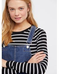 Free People - Blue Torn Up Pinafore Dress By We The Free - Lyst