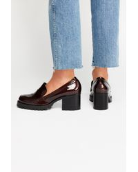 Free People - Red Lexden Block Heel Loafer By Jane And The Shoe - Lyst
