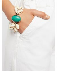 Free People | White By The Sea Shell Turquoise Bracelet | Lyst