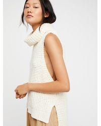 Free People - White Skyscraper Sweater - Lyst
