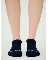 Free People - Black Beyond Words Exersock - Lyst