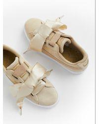 Free People - Basket Heart Metallic Safari Sneaker - Lyst