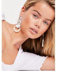 Free People - Metallic Gold Dust Earrings - Lyst