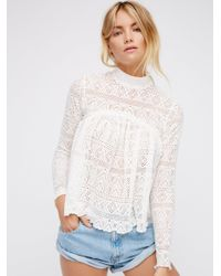 Free People | White About Time Top | Lyst