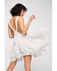 Free People - White Hot Hot Hot Mini Dress - Lyst