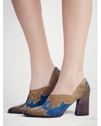 Free People - Blue Alamo Western Ankle Boot - Lyst