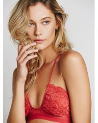 Free People - Red All For U Bra - Lyst