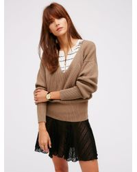 Free People | Brown Allure Pullover | Lyst