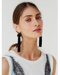 Free People - Black Astrid Tassel Earring - Lyst