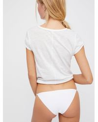 Free People - White Super Skinny Bikini By Intimately - Lyst