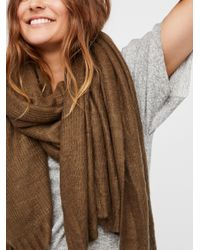 Free People - Green Kennedy Waffle Knit Scarf - Lyst
