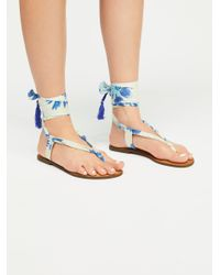 a17692e81471 Free People Champagne Beach Sandal in Blue - Lyst