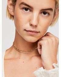 Free People - Metallic Double Chain Necklace - Lyst