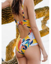 Free People - Yellow Sunkissed Karissa One-piece Swimsuit - Lyst