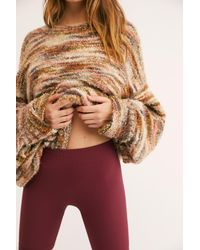 Free People - Red Seamless Rib Bike Short By Intimately - Lyst