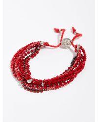 Free People - Red Serefina 7 In 1 Bracelet - Lyst