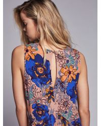 Free People - Multicolor Back Yard Party Printed Tunic - Lyst