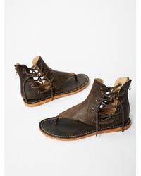 Free People | Brown Baske Sandal | Lyst