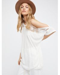 Free People | White Beachy And Peachy Tunic | Lyst