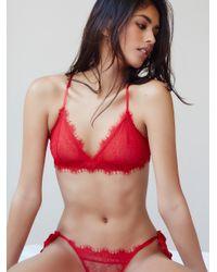 Free People | Red Bedroom Eyes Tie Bikini Bedroom Eyes Bralette | Lyst