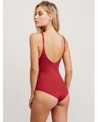 Free People - Red City Slick Bodysuit - Lyst