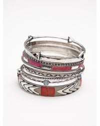 Free People - Multicolor Best Of The Best Hard Bangles - Lyst