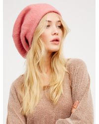 Free People | Pink Bisous Slouchy Beret | Lyst