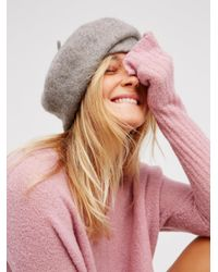 Free People | Gray Bisous Slouchy Beret | Lyst