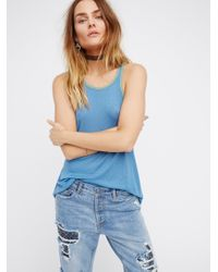 Free People | Blue Block To Block Cami | Lyst