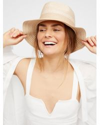 Free People - Natural Boardwalk Packable Hat - Lyst