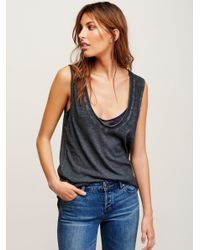 Free People | Black Bombay Tank | Lyst
