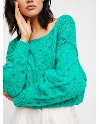 Free People - Blue Bonfire Sweater - Lyst