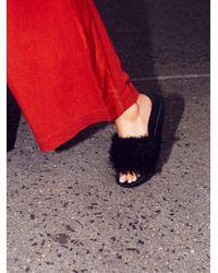 Free People   Black Boudoir Slide Sandal   Lyst