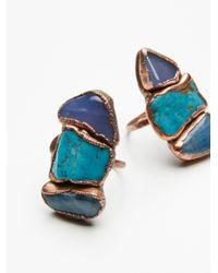 Free People - Blue Buried Treasure Triple Stone Ring - Lyst