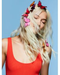 Free People - Pink Butterfly Hair Clip - 7 Pack - Lyst