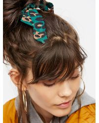 Free People - Brown Accessories Hair Accessories Bow Scrunchie - Lyst