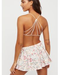 Free People - White Strappy Back Bra - Lyst